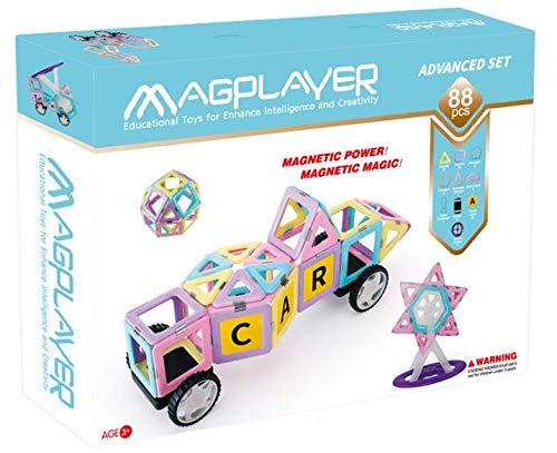 マグプレイヤー Magplayer パステルカラー88ピースセット マグネットブロック おもちゃ 知育玩具 磁石 男の子 パズル ブロック プレゼント ギフト 誕生日 認知症 ラッピング