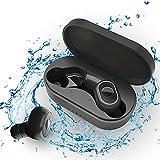 Auriculares Inalambricos Auriculares Bluetooth 5.1 con Micrófonos, Cascos Inalambricos IPX7 Impermea...