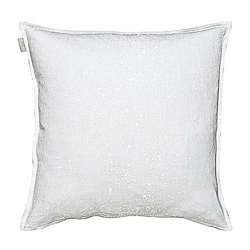 Linum Sky Kissenhülle G15 hellgrau Jaquard gewebt 50cm x 50cm, 100% Baumwolle, Reißverschluss, Kissenbezug, Wohntextilien