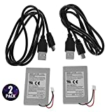 G-Dreamer 2 Pack Replacement Battery Pack For SONY PS3 Controller + USB Charger Cable