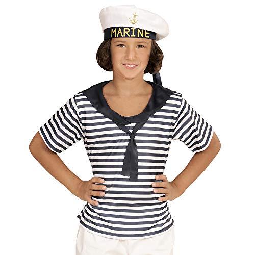 Widmann 03118 - Kinderkostüm Marine Set, Shirt und Hut