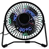 LED Clock Fan (時間/秒/温度)