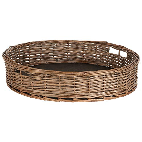 Hartleys Round Wicker Serving Tray