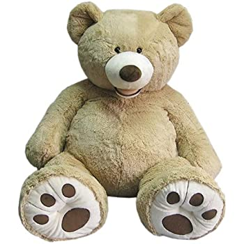 ハグミービッグベア★134cmのくまのぬいぐるみ SITTING BEAR 大きなクマさんぬいぐるみ【135cm】 キャメル