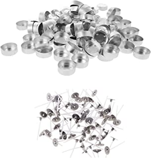 4# 100pcs Aluminum Empty Tealight Cups Case Candle Aluminium Ware for Craft