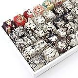 PBT Keycaps 108 Key Ahegao Dye Sublimation OEM Profile Japanese Anime Keycap for Cherry Mx Gateron Kailh Switch Mechanical Keyboard (Anime Keycap)