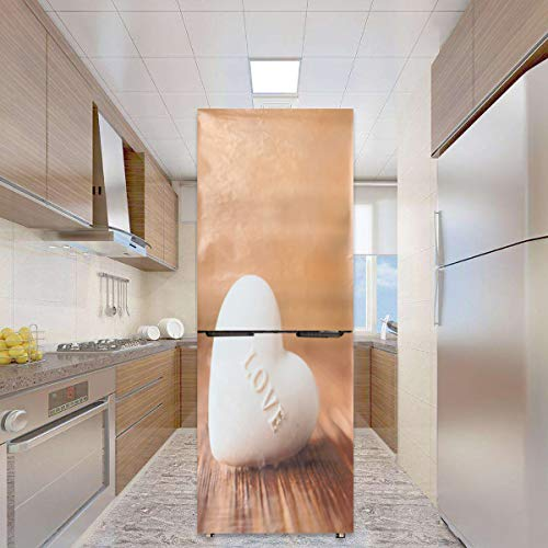 Wchaoen 3D Wall Art Sticker Love Heart Vinyl Decal Autoadhesivo Puerta Frigorífico Wrap Decoración Mural Accesorios para herramientas