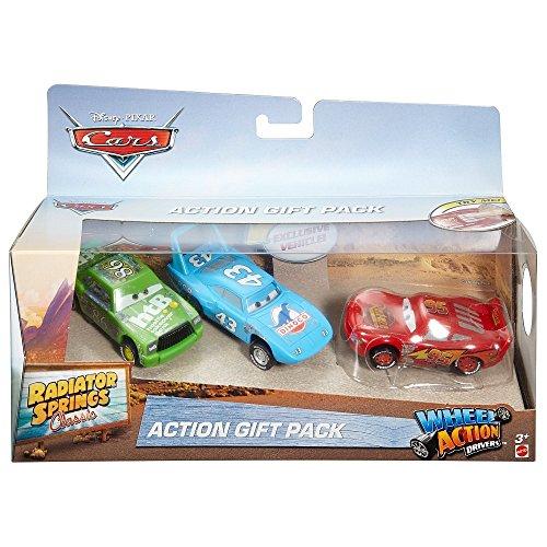 Disney Cars FBT10 3-teilig Geschenkset Radiator Springs: Chick Hicks & Lighting McQueen Dinoco & Lighting McQueen rot Action Driver .