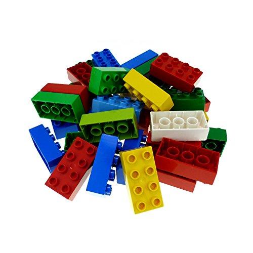 35 LEGO DUPLO 8er BASIC BAUSTEINE STEINE 2x4 Noppen bunt gemischt
