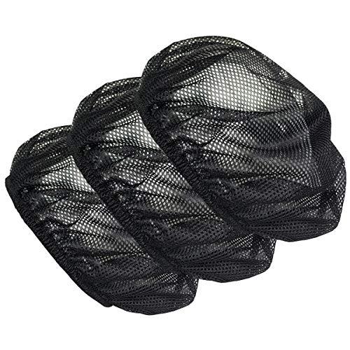 Cityelf Verstellbare Kochmütze, elastisch, für Lebensmitteldienst, Haarnetz, Küchennetz, wiederverwendbar, Restaurant Bouffant - Schwarz - Large