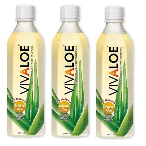 3 confezioni di Energy Drink VIVALOE 100% Aloe Naturale 50cl 11 KCal