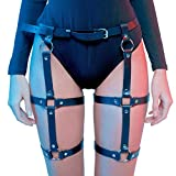 HOMELEX Women's Leg Harness Caged Thigh Holster Garters Harajuku Waist Gothic Rings Belt for Rave Outfits (P105)
