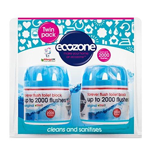 Ecozone Forever Flush 2000 Toilet Block Twin P