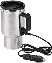Elektrische thermosfles - 12 V 65 °C auto waterkoker beker reizen roestvrij staal verwarming Cup voor koffie, thee, 450 ml