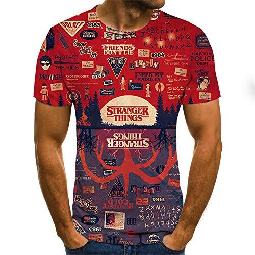 T-Shirt Grande Taille Hommes T-Shirt été géométrique Cercle 3D imprimé T-Shirts Mode O - Cou à Manches Courtes décontracté lâche Hommes Chemises XXL Txu-1043