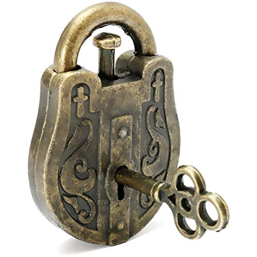 POFET Metallguss God Lock Puzzle Retro Vintage Lock Iq & Eq Mind Brain Teaser Souptoys Geschenk