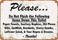 お願いします メタルポスタレトロなポスタ安全標識壁パネル ティンサイン注意看板壁掛けプレート警告サイン絵図ショップ食料品ショッピングモールパーキングバークラブカフェレストラントイレ公共の場ギフト