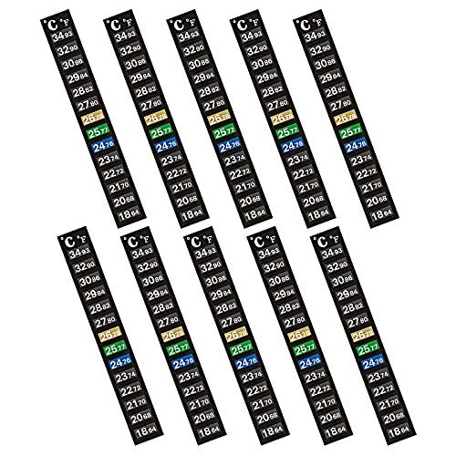 Mein HERZ Termómetro LCD, 10 Piezas Termómetro de Acuario, Acuario Digital Temperatura Adhesiva Termómetro Pasta en Acuario, para Acuarios, Preparación de Cerveza y Vino en Casa