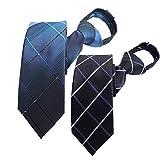 FANGXI ワンタッチ ネクタイ メンズ ビジネスカジュアル ジップ 結婚式 高級 ギフトボックス付き