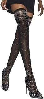 Damen Stiefeletten Frauen Blockabsatz Sexy Elastische Stiefel Spitz High Heels Strümpfe Overknee Stiefel Langschaft Schöne Boots Party Schuhe Stilettos