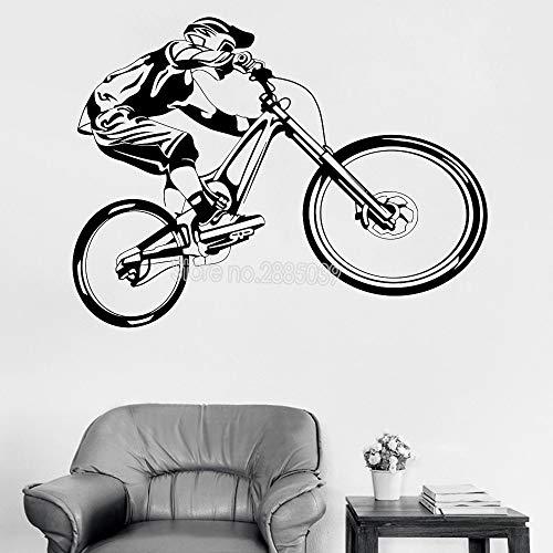 zhuziji Blume Wandaufkleber Für Schlafzimmer Staircasebicycle S Bike Phantasie Extremsport Coole Jungen S Garage Home Ative Lpvc wasserdichte Hintergrund Restaurant, Ha74x56cm