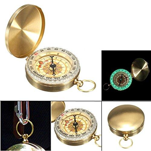 Viviance ZHVICKY Pocket horloge Compass Klassieke sleutelhanger Camping Wandelen Navigatie Outdoor nachtlampen