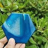 ABCBCA 80cm Natural Hexagon Agate Rodajas pulidas Minales Cristal de Piedra Rebanadas Posavasos (Color : 1pc)