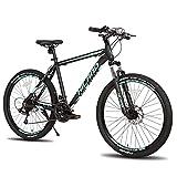 Hiland 26 Inch Mountain Bike Aluminum Shimano 21 Speeds 19 inch Frame for Man Woman Black -  HH HILAND
