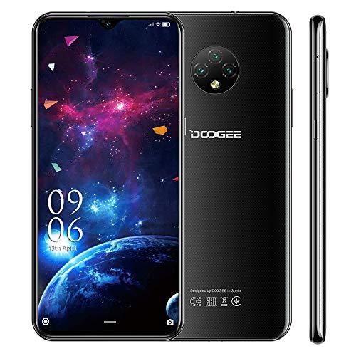 Smartphone libre (2020), DOOGEE X95 pantalla de 6,52 pulgadas, 16GB +2GB Quad Core 4G Móvil 13 MP, cámaras traseras Triple 4350 mAh, batería Android10, identificación de telefonía, doble SIM, negro