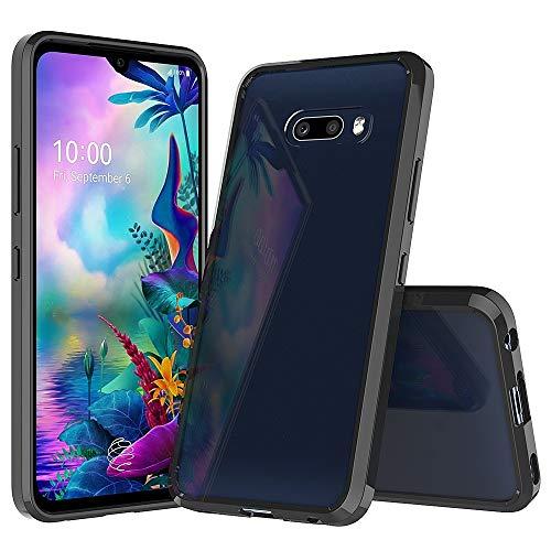 Xyamzhnn Estuches para teléfono para LG G8X THINQ / V50s Thinq a Prueba de Golpes a Prueba de rasguños TPU + Cáscara Protectora de acrílico (Color : Black)