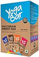 Yogabar Multigrain-Energy Snack Bars Pack - Healthy Diet with Fruits, Nuts, Oats and Millets, Gluten Free and High...