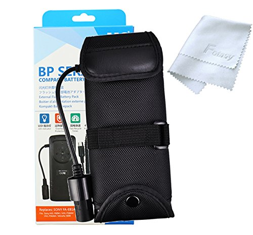 JJC BP-SY1 Pro External Flash Battery Pack Replaces Sony FA-EB1AM, for Sony HVL-F60M / HVL-F58AM / HVL-F56AM / Minolta 5600