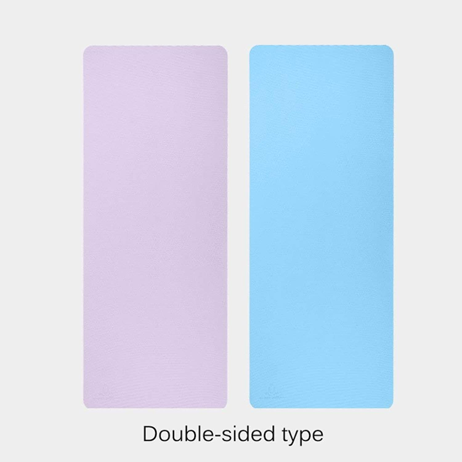 HONGSHENG Doppelsided Yoga Mat Soft Non-Slip Body Line Can Be Used On Both Sides, Ultra-Thin 8MM Thickness, Perfect Yoga Pilates Mat,1
