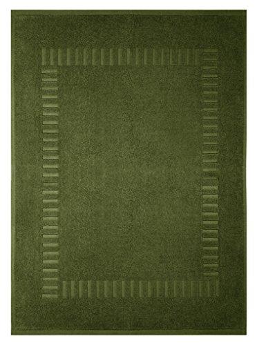 Lashuma Badematte Moos - Grün, Wannenvorleger Frottee aus 100% Baumwolle, Pure 50 x 70 cm