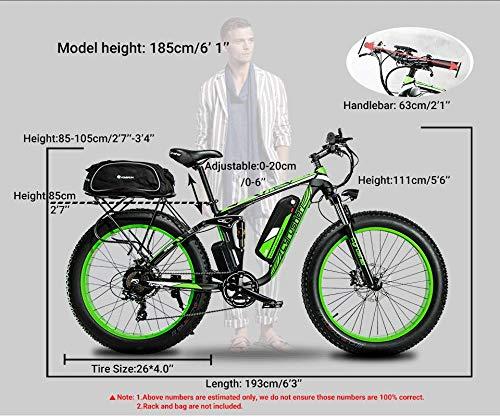 Extrbici Vélo électrique XF800 750W 48V 13A VTT électrique à Vente Limitée Mondiale Support de Charge USB avec Suspension Complète et LCD Intelligent & Gros Pneu 26 x 4.0