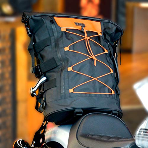 Goldfire Expandable Motorcycle Tail Bag Travel Luggage Sissy Bar Bag, Weather Resistant Tail Duffle...