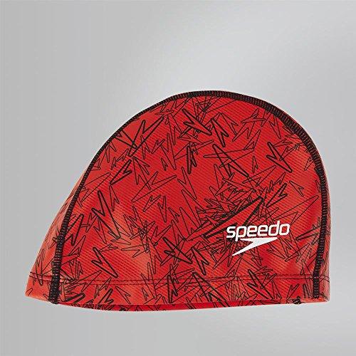 Speedo Boom Ultra Pace Gorra de Natación, Hombre, Rojo/Negro, Talla Única