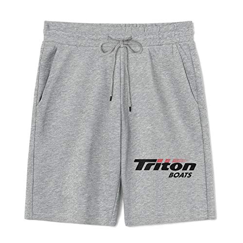 WalterFanny Men Athletic Shorts Triton-Boats-Logo- Casual Breathable Convenient Quick Drying Sports Pants