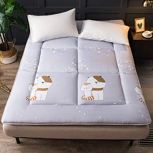 Dunne futon matras topper opvouwbare tatami vloermat Ademende anti-slip matras topper Gecapitonneerde slaapmat mat thuis - 90 x 195 cm (35 x 77 inch)