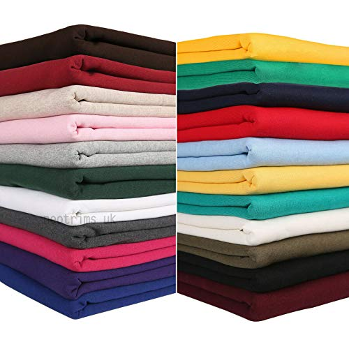 Tissu pour Sweat-shirt coton polaire et polyester pour sweat,pull,hoodies,sweatshirt, veste à capuche,jogging, survêtements sport, existe en 24 couleurs au dos brossé