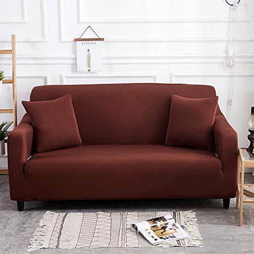 Fsogasilttlv Funda para sofá con diseño Moderno Marrón 3 plazas, Funda de sofá elástica para Sala de Estar Funda de sofá elástica, Funda de sofá Protector de Muebles Four Seasons 190-230cm 1 PCS