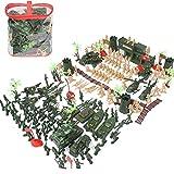 Navigatee Toy Soldiers Sets 188pcs - Militar Toy Soldiers Kit, Tanque, Avión, Helicóptero, Figuras de acción de simulación del campo de batalla, Juguetes para niños, 188pcs