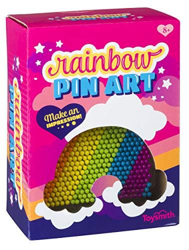 Toysmith Colorful Rainbow Pin Art, Girls Boys, Room Decor Desk Toy