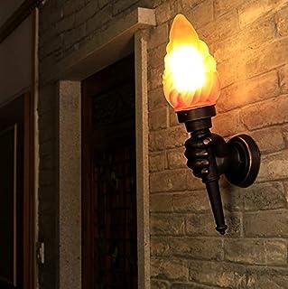 Lámpara de pared con antorcha de mano creativa Lámparas de pared LED de mano derecha retro para iluminación de decoración de bar de hotel de jardín, sin fuente de luz