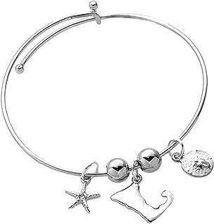 Cape Cod Map Charms Expandable Bangle Bracelet by Cape Cod Jewelry-CCJ