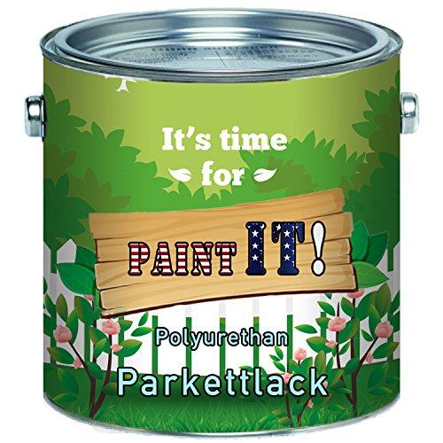Paint IT! langfristierg Parkettlack Treppenlack glänzend seidenmatt Parkettöl Parkettpflege FARBLOS (10 L, Glänzend)