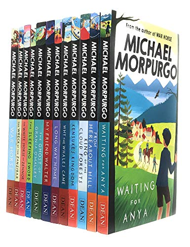 Michael Morpurgo Collection 12 Books Set (Waiting for Anya, From Hereabout Hill, King of the Cloud Forests, Kensuke's Kingdom, Why the Whales come, Long Way Home, My Friend Walter and More)