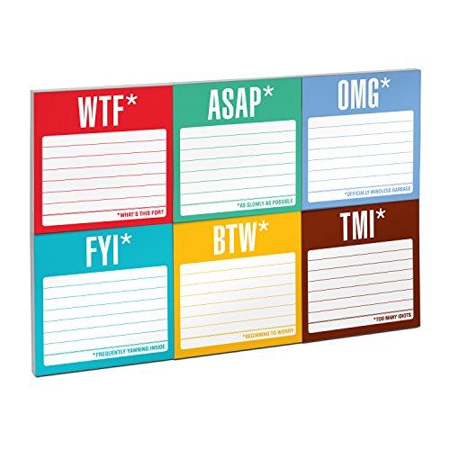 Knock Knock Sticky Notes Packet, Honest Acronyms Photo #2