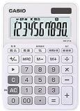 カシオ カラフル電卓 10桁 ピュアホワイト MW-C11A-WE-N 1個