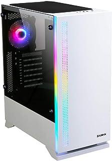 Zalman S5 Blanco - Caja media torre con ventana lateral de cristal templado e iluminación RGB (Categoría: caja de PC)